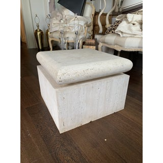 Mid Century Travertine Side Table Preview
