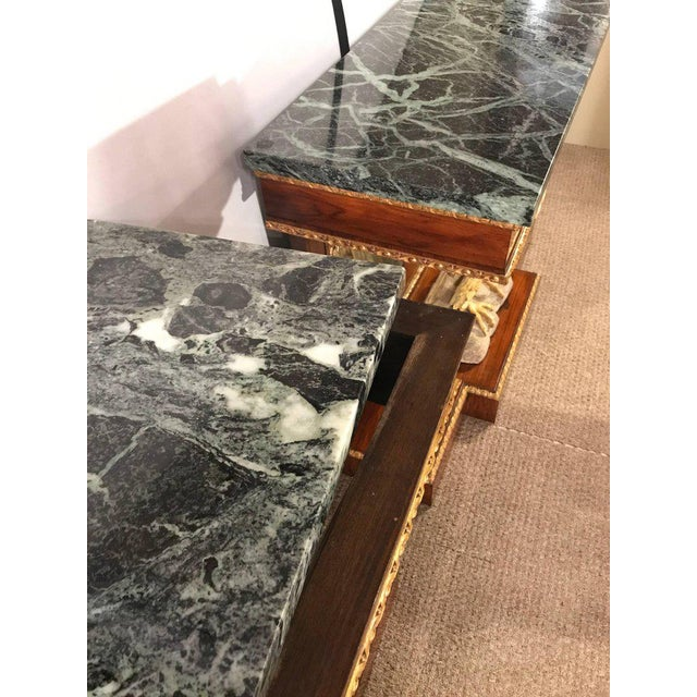Marble Pair of Monumental Federal Style Console Table with Carved Opposing Eagles For Sale - Image 7 of 10