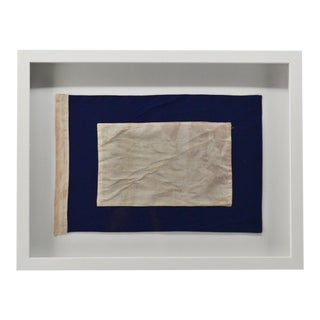 "Real Framed Signal Flag Cotton ""P"" For Sale"