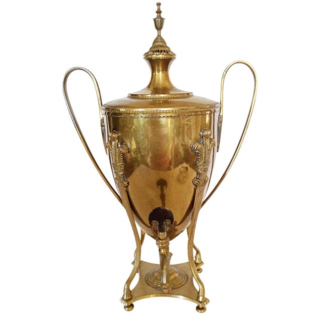 Large Brass Serving Trophy Urn For Sale