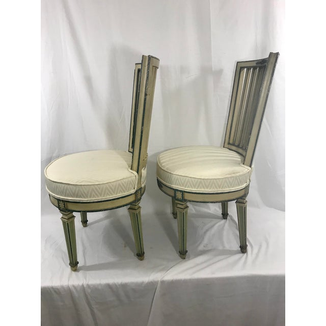 1940s Classical Italian Dining Chairs Set of 4 For Sale - Image 5 of 12