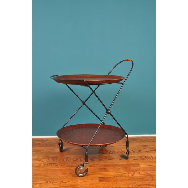Collapsible Bar Cart, Sweden 1950s For Sale - Image 11 of 11