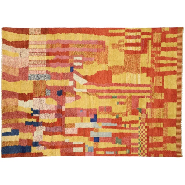 Moroccan Contemporary Rug - 09'11 X 13'11 For Sale - Image 9 of 10