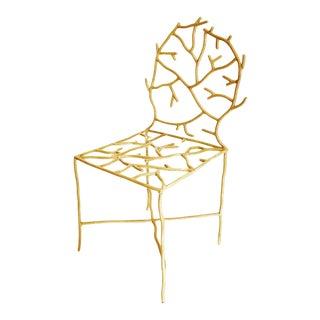 Modern Gold Silla Coralita Chair