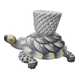 Vintage Italian Ceramic Tortoise Planter For Sale