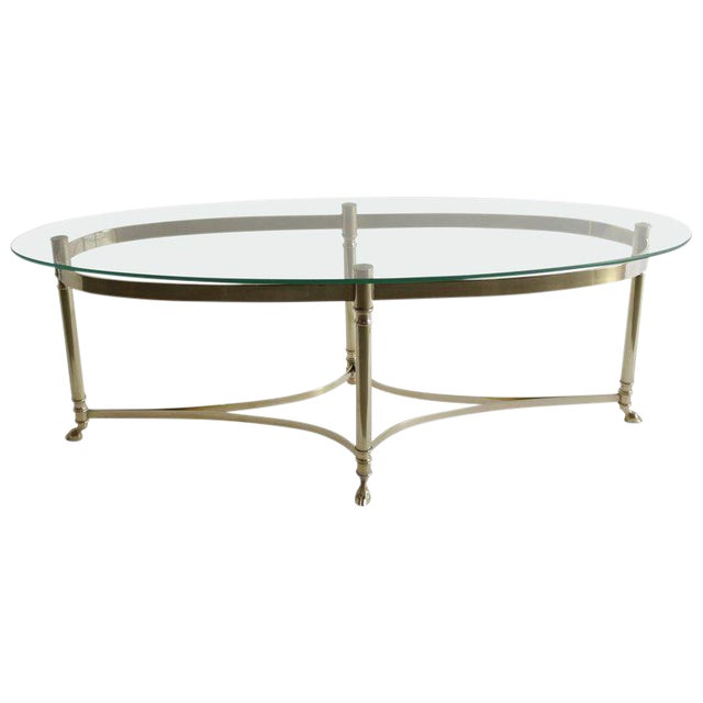 Midcentury Italian Brass Coffee Table For Sale
