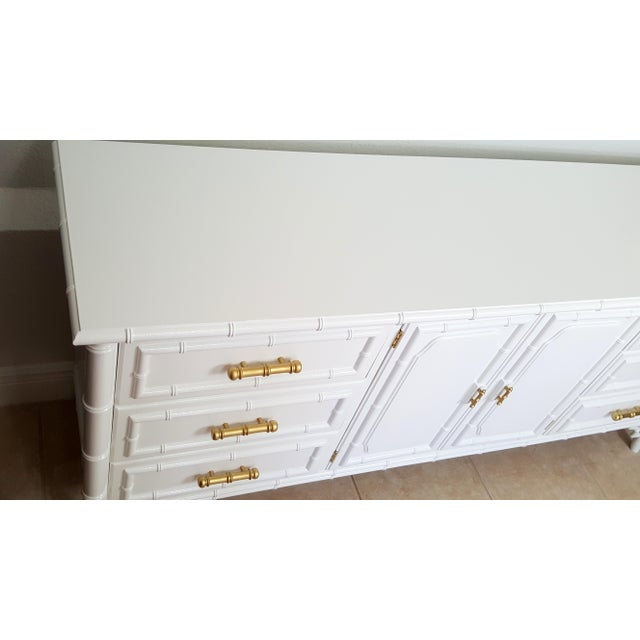 Dixie Aloha Faux Bamboo 9 Drawer Dresser For Sale - Image 9 of 10