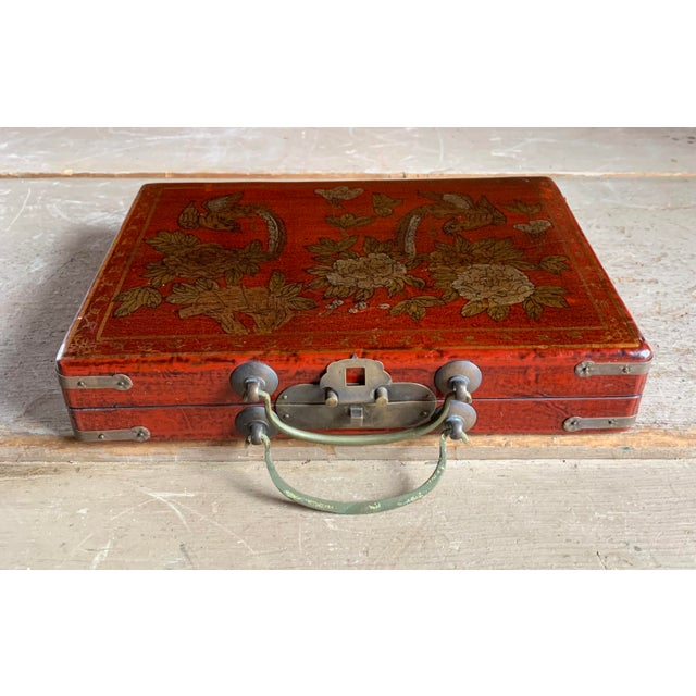 1920s Old Asian Tea Caddy Case For Sale - Image 5 of 11