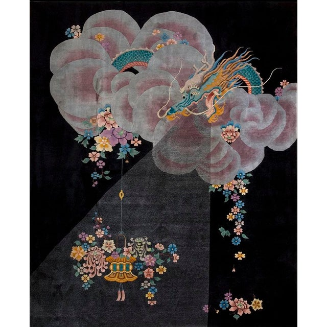 Antique Chinese Art Deco Rug- 8′ × 10′ For Sale