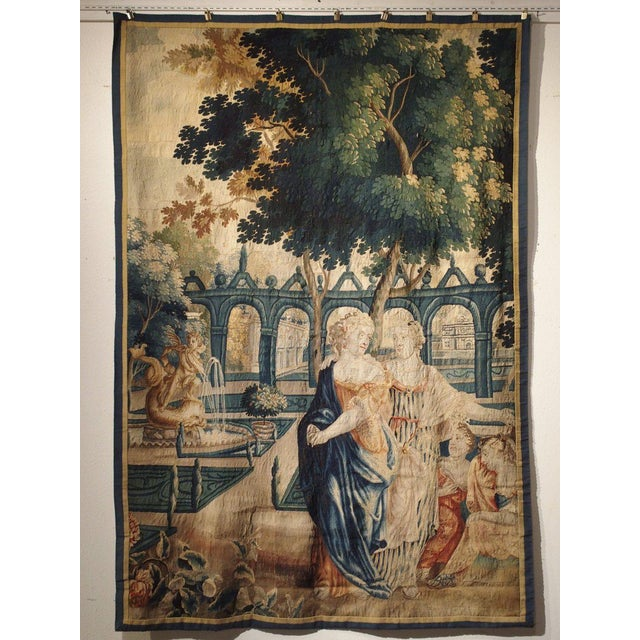 17th Century Park Scene Tapestry From France For Sale - Image 13 of 13