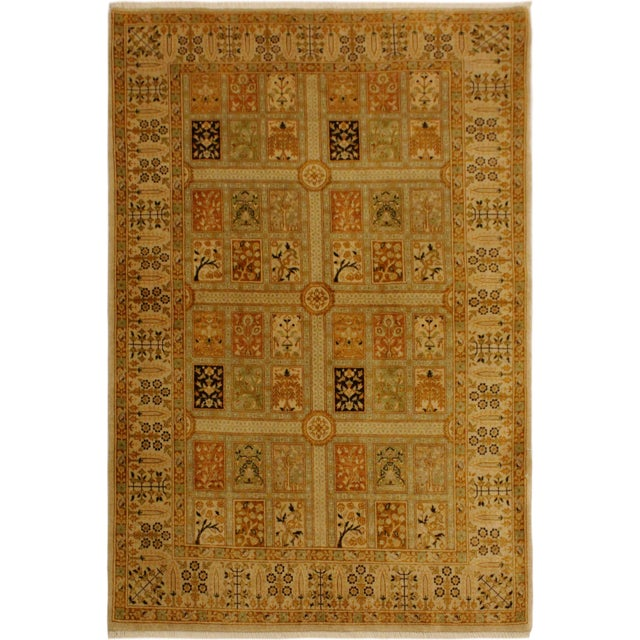 Gold Semi Antique Istanbul Cammy Tan/Gold Turkish Hand-Knotted Rug -4'2 X 6'0 For Sale - Image 8 of 8