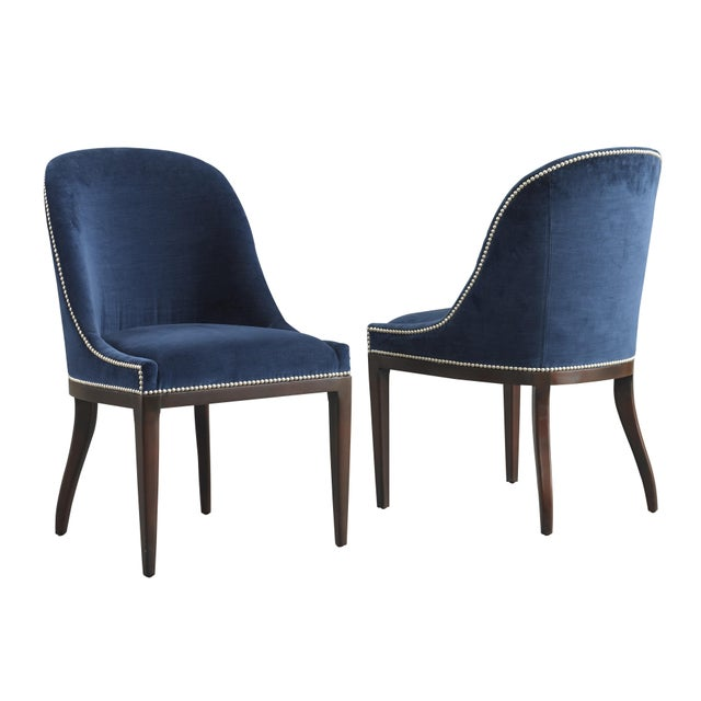 KLASP Home Fully Upholstered Spoon Back Dining Chair For Sale - Image 4 of 6