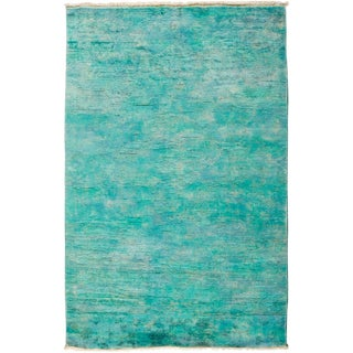 """Overdyed Hand Knotted Area Rug - 3'1"""" X 5'1"""" For Sale"""