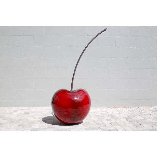 Monumental 4.5 Foot Tall Red Cherry Sculpture Pop Art For Sale In Tampa - Image 6 of 10