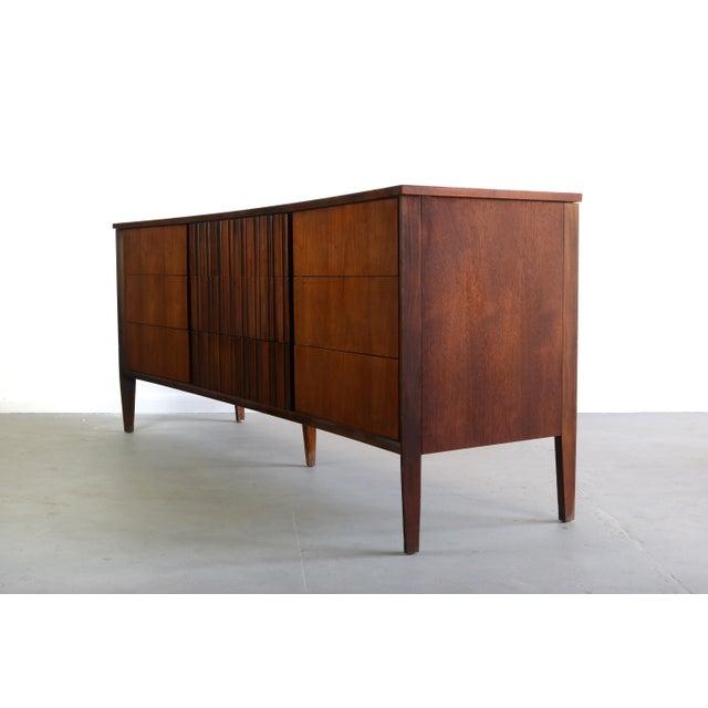 Brown Exceptional Contoured Dresser / Credenza by Edmond Spence, Sweden For Sale - Image 8 of 8