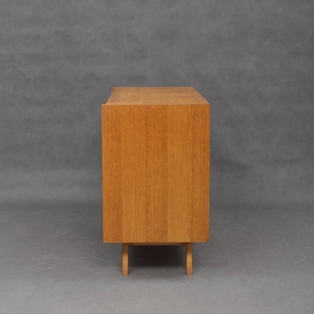 Mid-Century Modern 1960s Mid-Century Modern Jiri Jiroutek for Interier Praha 8-Drawers Oak Chest For Sale - Image 3 of 9