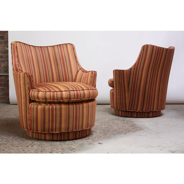 Mid-Century Modern Diminutive Swivel Chairs - a Pair For Sale - Image 13 of 13