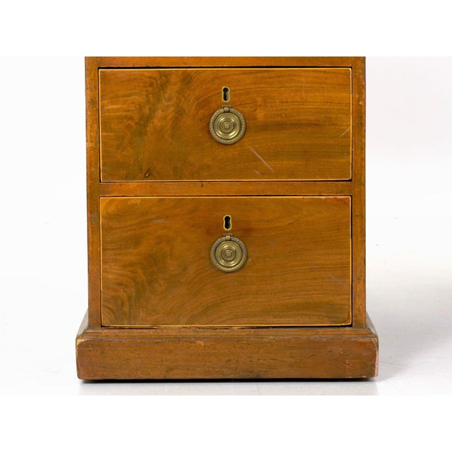 19th Century English Antique Mahogany and Leather Pedestal Desk For Sale - Image 10 of 13