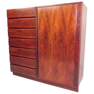 Scandinavian Modern Rosewood Gentleman's Chest For Sale