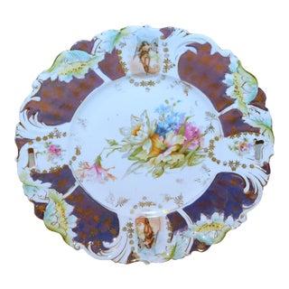 Saxe Altenburg Hand-Painted Sandwich Plate For Sale