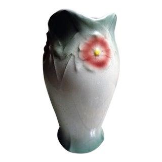 Antique Goteborg Porcelain Clay Molded Flower Vase For Sale