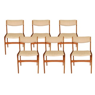 Mid Century Danish Teak Dining Chairs For Sale