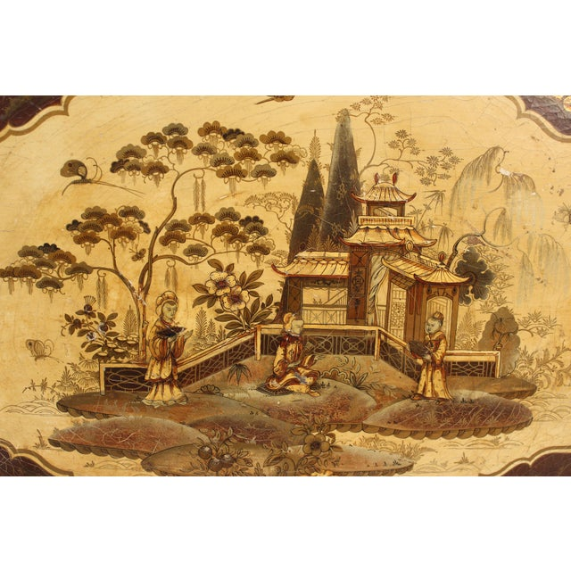 English Regency Style Chinoiserie Decorated Tray Table For Sale In Los Angeles - Image 6 of 13