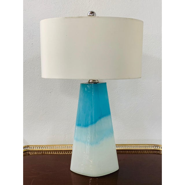 2010s Pair of Modern Colorful Glass Lamps For Sale - Image 5 of 5