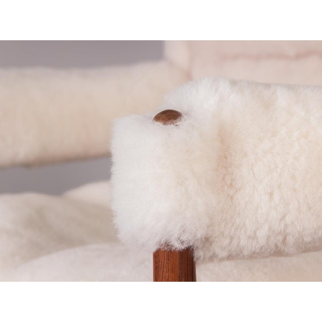 Kristian Vedel Sheepskin Modus Lounge Chairs - a Pair For Sale - Image 10 of 13