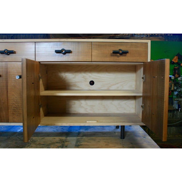 Not Yet Made - Made To Order Industrial Franklin Credenza/Sideboard For Sale - Image 5 of 8