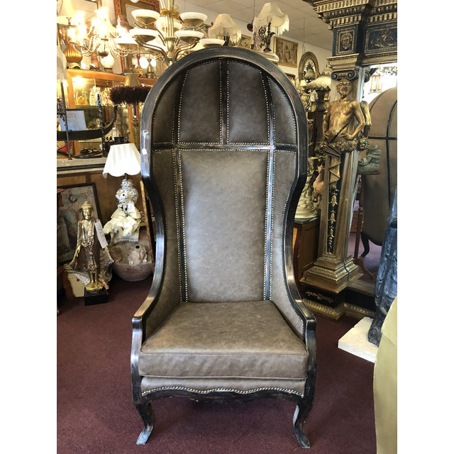 Vintage Gothic Revival Balloon Chairs - a Pair For Sale - Image 9 of 9