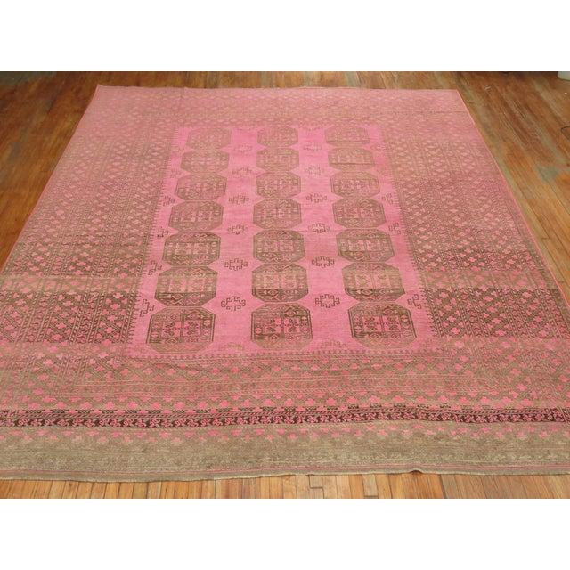 Boho Chic Wild Pink Vintage Tribal Rug, 10'10'' X 13'5'' For Sale - Image 3 of 11