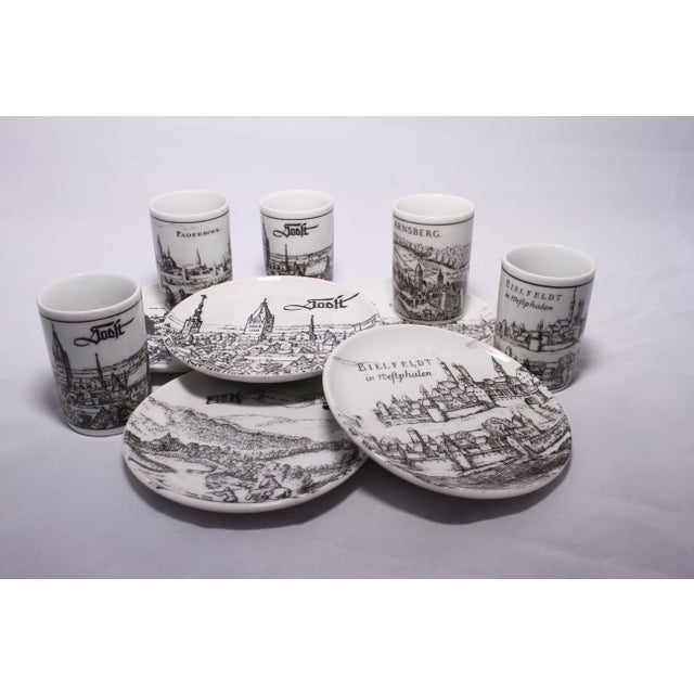 Late 20th Century Vintage German Porcelain Cups and Plates - Set of 5 For Sale - Image 5 of 11