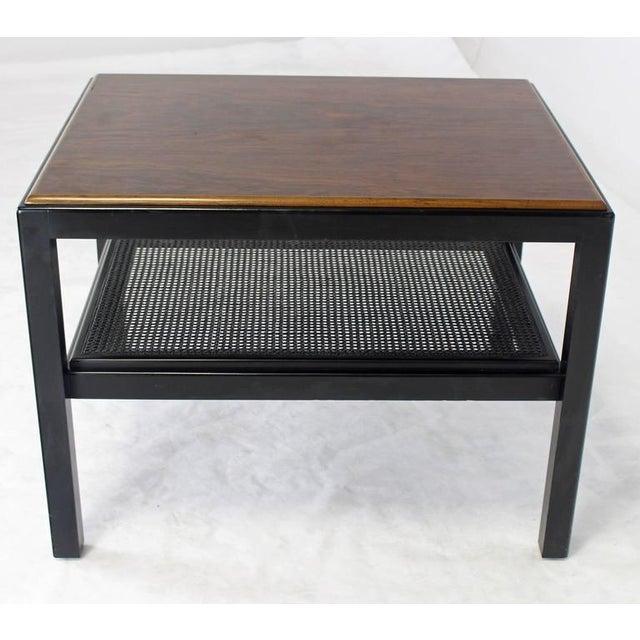 Mid-Century Modern rectangular shape rosewood end table.