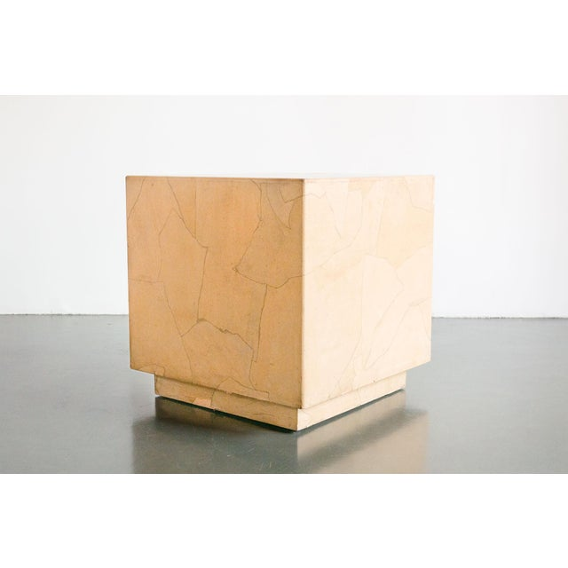 Brown 20th Century Modern Henredon Cube Side Table For Sale - Image 8 of 8