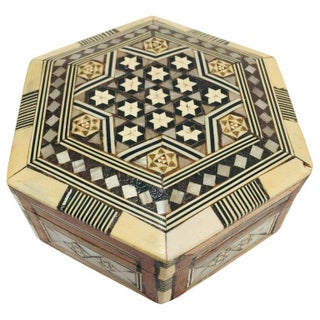 Syrian Middle Eastern Handcrafted Octagonal Inlaid Mother of Pearl Box Preview