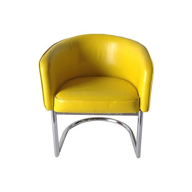 Milo Baughman Chrome Tub Club Chair - Image 7 of 7
