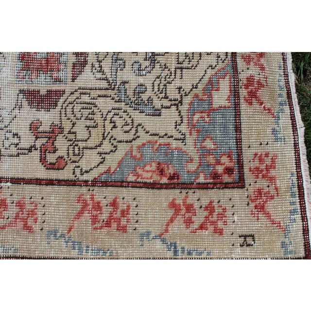 Vintage Turkish Anatolian Handmade Home Decorative Red Color Area Size Rug- 5′7″ × 8′3″ For Sale In Sacramento - Image 6 of 9