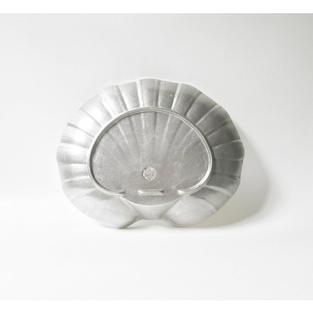 Wilton Pewter Shell Shaped Silver Serving Platter or Tray For Sale - Image 4 of 7