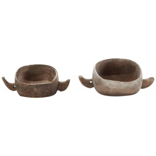 Pair of 20th Century East African Grain Bowls With Handles For Sale