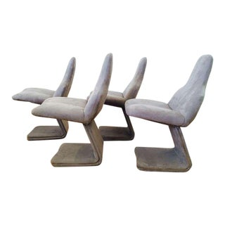 Set of Four Italian Dining Chairs Designed by Gastone Rinaldi for Rima For Sale
