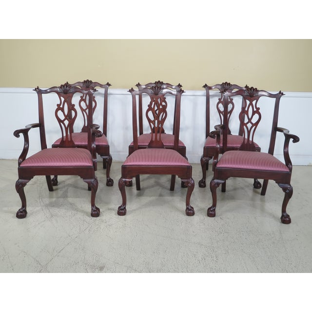 Henkel Harris Claw Foot Mahogany Dining Chairs - Set of 6 - Image 11 of 11