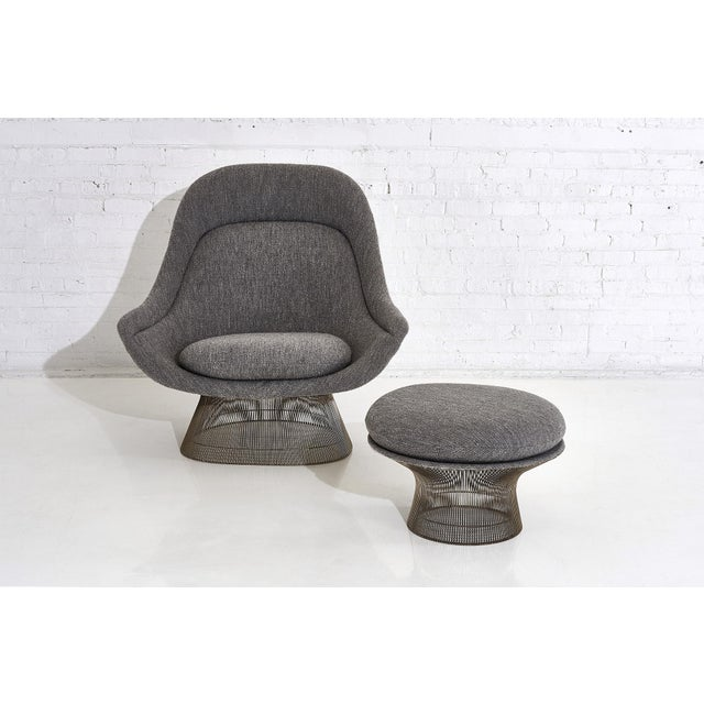 Warren Platner for Knoll Lounge Chair With Ottoman For Sale In Chicago - Image 6 of 11