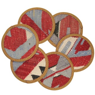 Rug & Relic Kilim Terzibaşı Coasters - Set of 6 For Sale