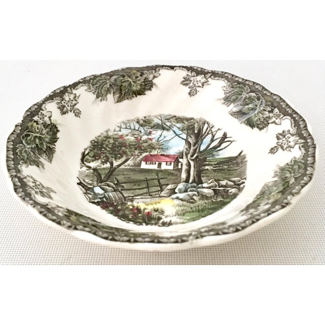 """1950's Johnson Brothers English """"Friendly Village"""" Dinnerware - Set of 17 For Sale In West Palm - Image 6 of 13"""