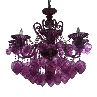 Gently used cyan design furniture up to 70 off at chairish cyan design bella vetro 8 light chandelier aloadofball Gallery