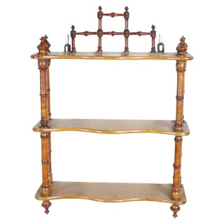 French Faux-Bamboo Shelf For Sale