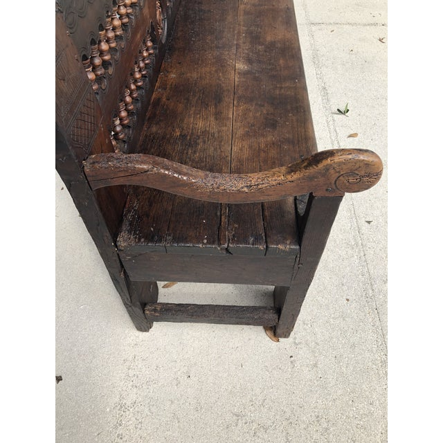 18th Century Dutch Colonial Robustly Built Hall Bench For Sale In West Palm - Image 6 of 7