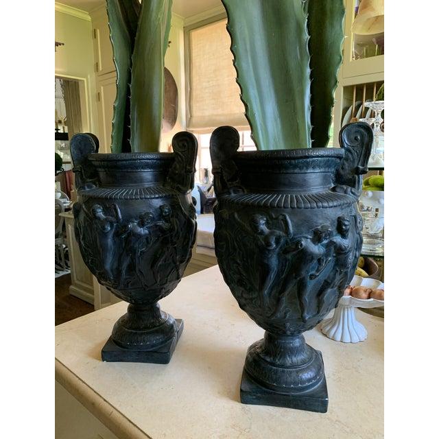 Vintage Plaster Greek Amphore Urns - a Pair For Sale - Image 13 of 13