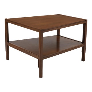 John Stuart Janus Collection Mt. Airy Furniture Sculptural Walnut Trapezoid Table For Sale